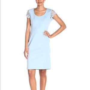 Nanette Leopore lace cap sleeves sheath dress